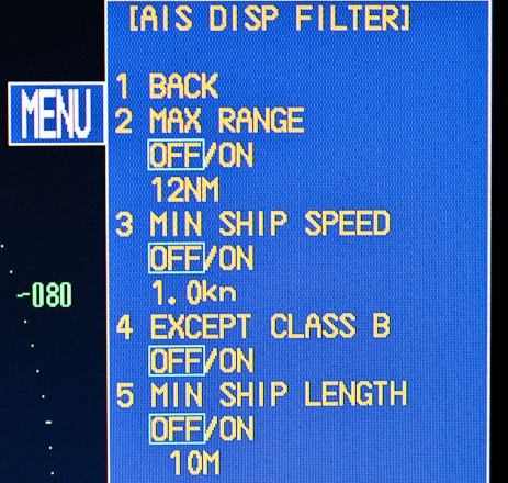 Class B Ais Filtering Option On Furuno Radar