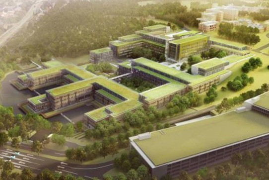 New green USCG Headquarters (CGHQ green roof technology)