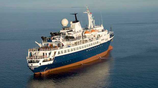 Clipper Adventurer Aground In Canadian Waters