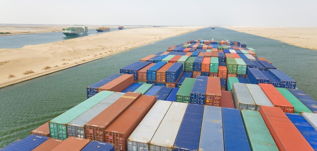suez canal container ship shipping