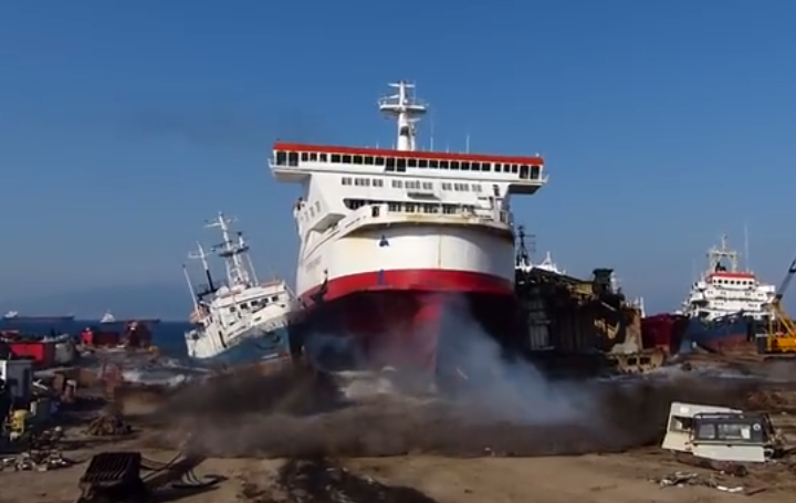 Pride Of Calais Ferry Hits Turkish Beach At Full Speed