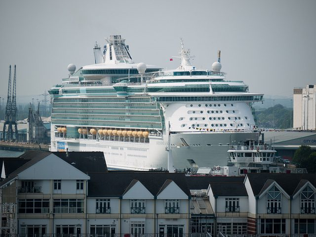 Royal Carribean's Independence of the Seas is berthed at the City Cruise Terminal, Southhampton, England. Photo By Mathew Reeve