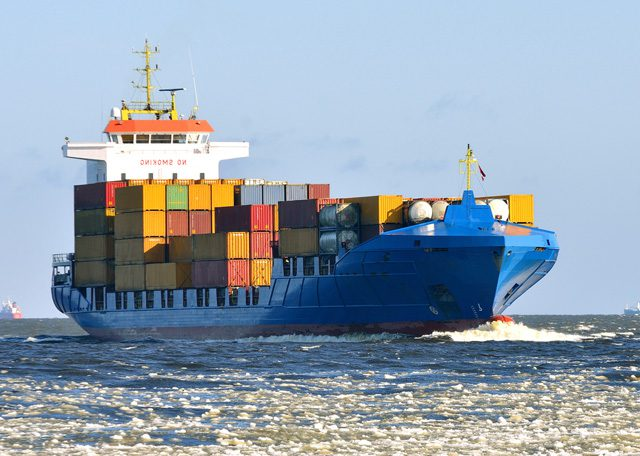 cargo ship containers