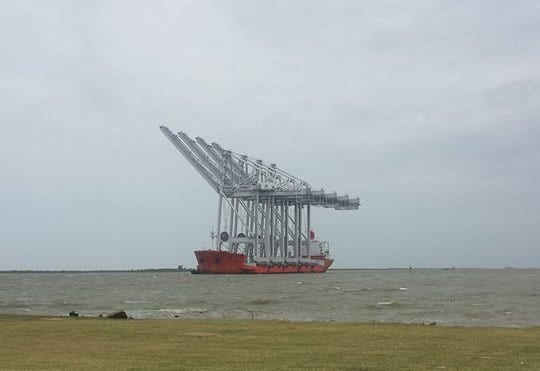 Leg Press For Sale >> Ship Photos of the Day - Giant Cranes Arrive in Houston ...