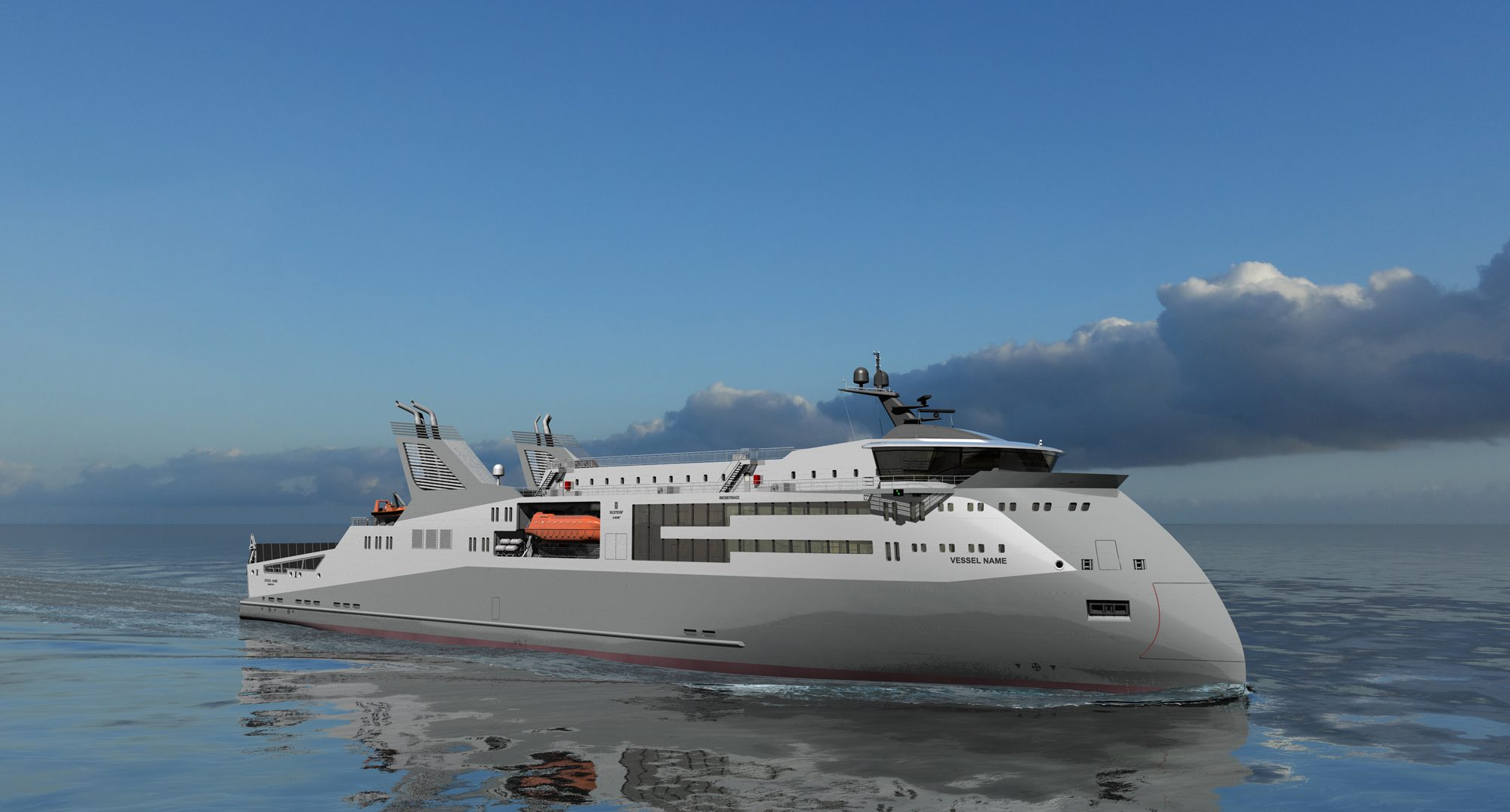 ulstein ropax x-bow concept design
