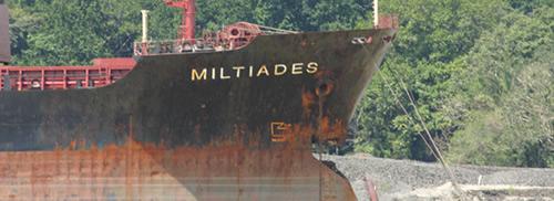 bulker Miltiades bow damage