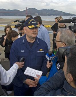 Admiral Thad Allen Cosco Busan Press Conference