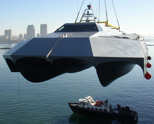 "US Navy's M80 Stealth Ship ""Stiletto"""