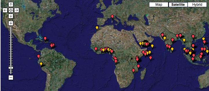 World Piracy Map 2008
