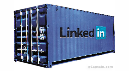 Linkedin Logo On A Shipping Container