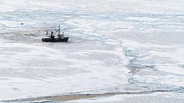Russian Ship Smolninsky Stuck In Ice