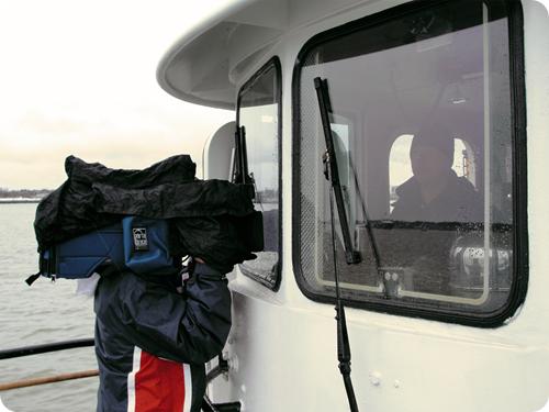 4 State Dept contingent of Korean News Crews get some B roll