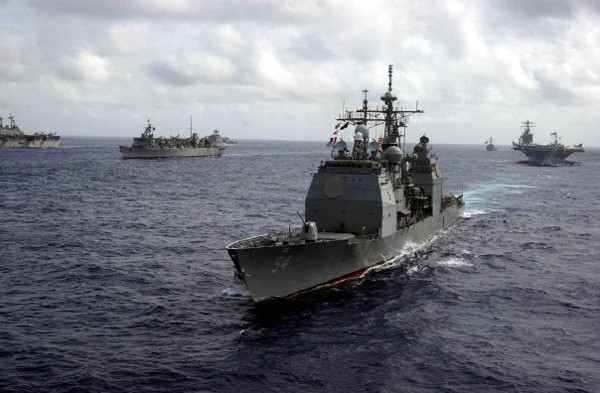 US Navy cruiser exercise battlegroup tandem thrust