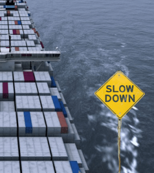 maersk-containership-slow-down-sign