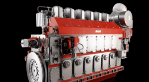 MaK M 46 DF Caterpillar dual fuel engine