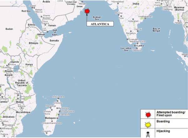 weekly piracy indian ocean