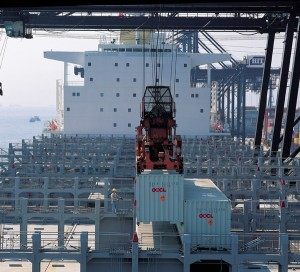 orient overseas OOCL containership container loading port
