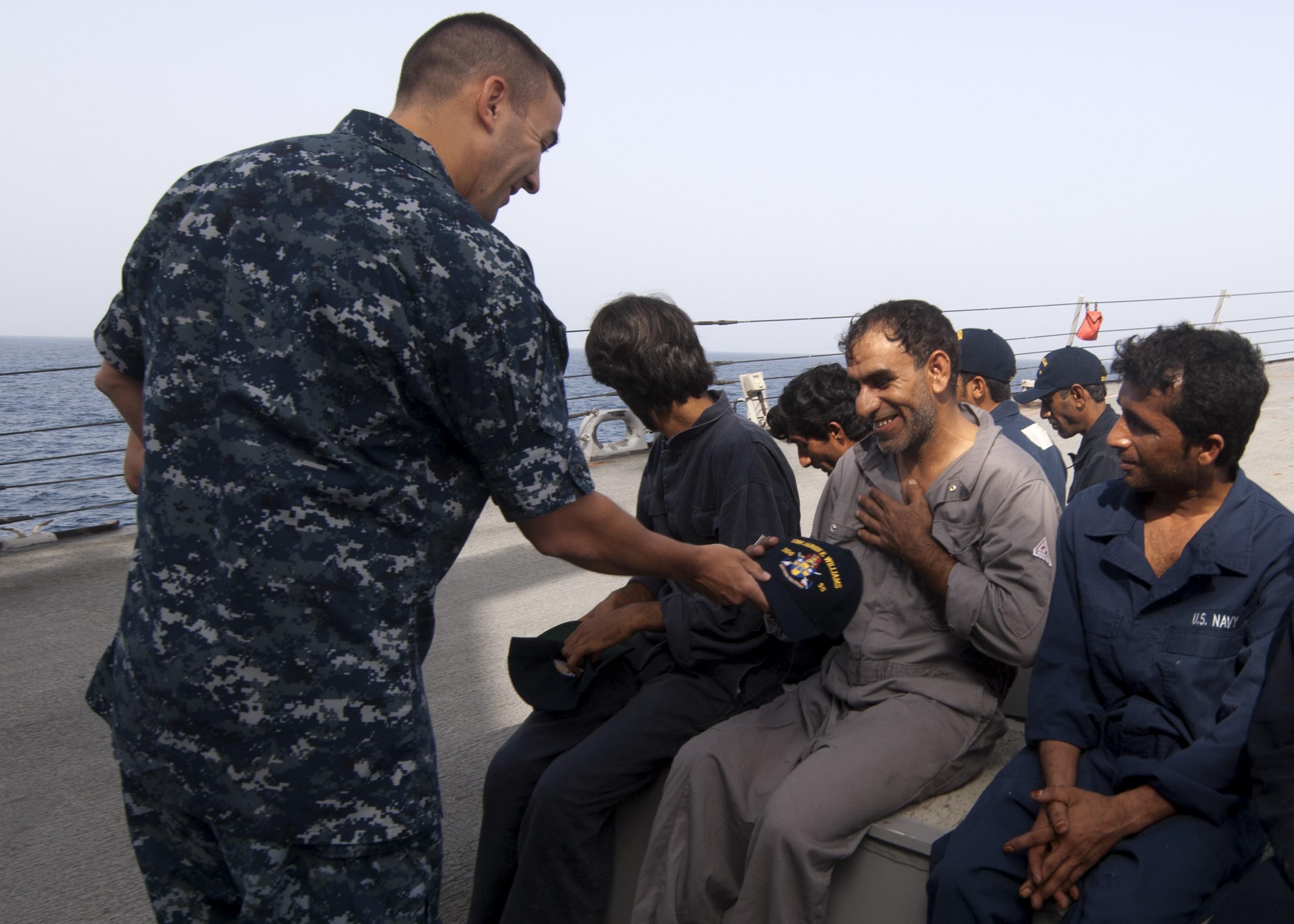 james e. williams iranian mariners rescue us navy Christopher Senenko