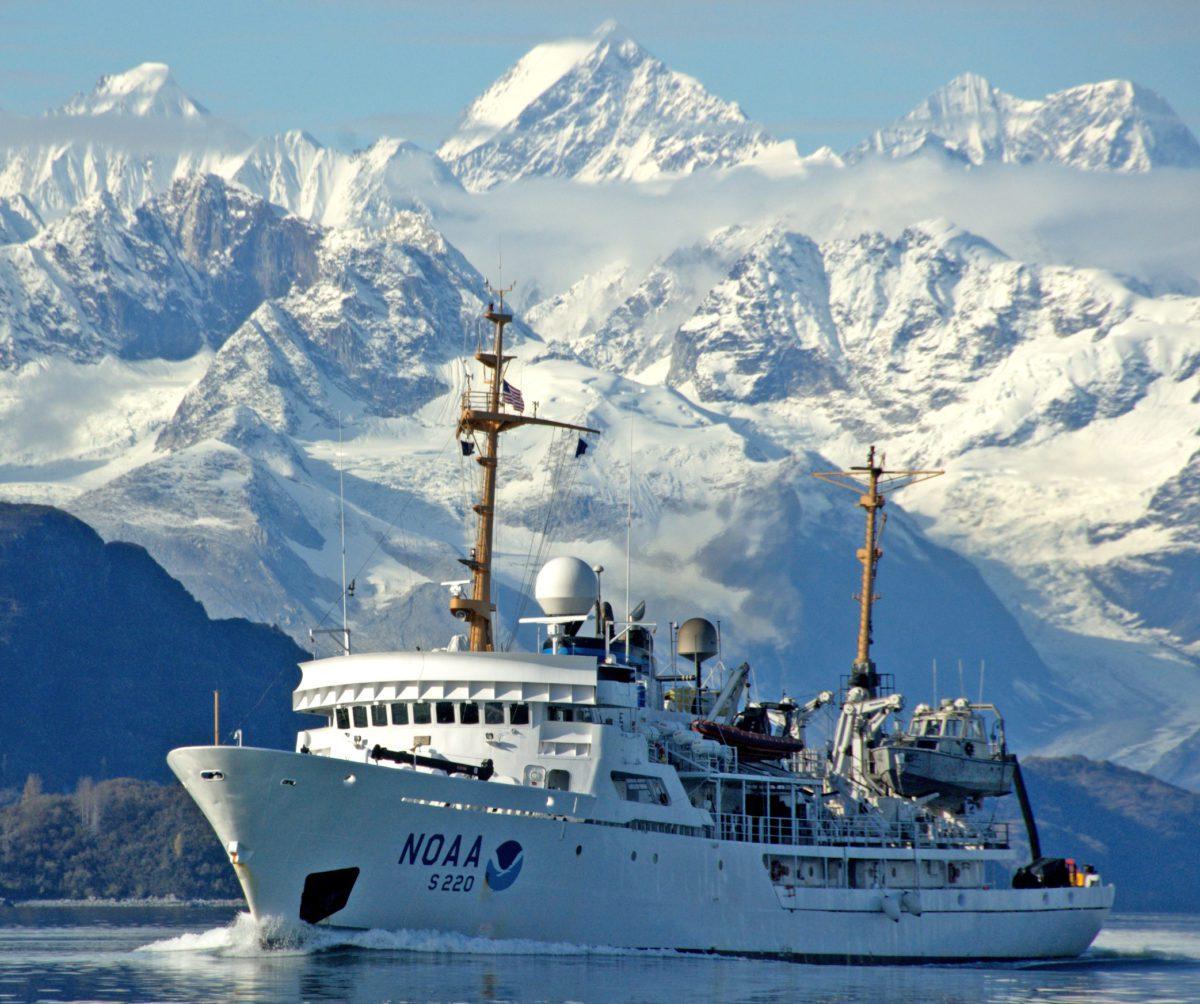 noaa ship fairweather in Alaskan waters
