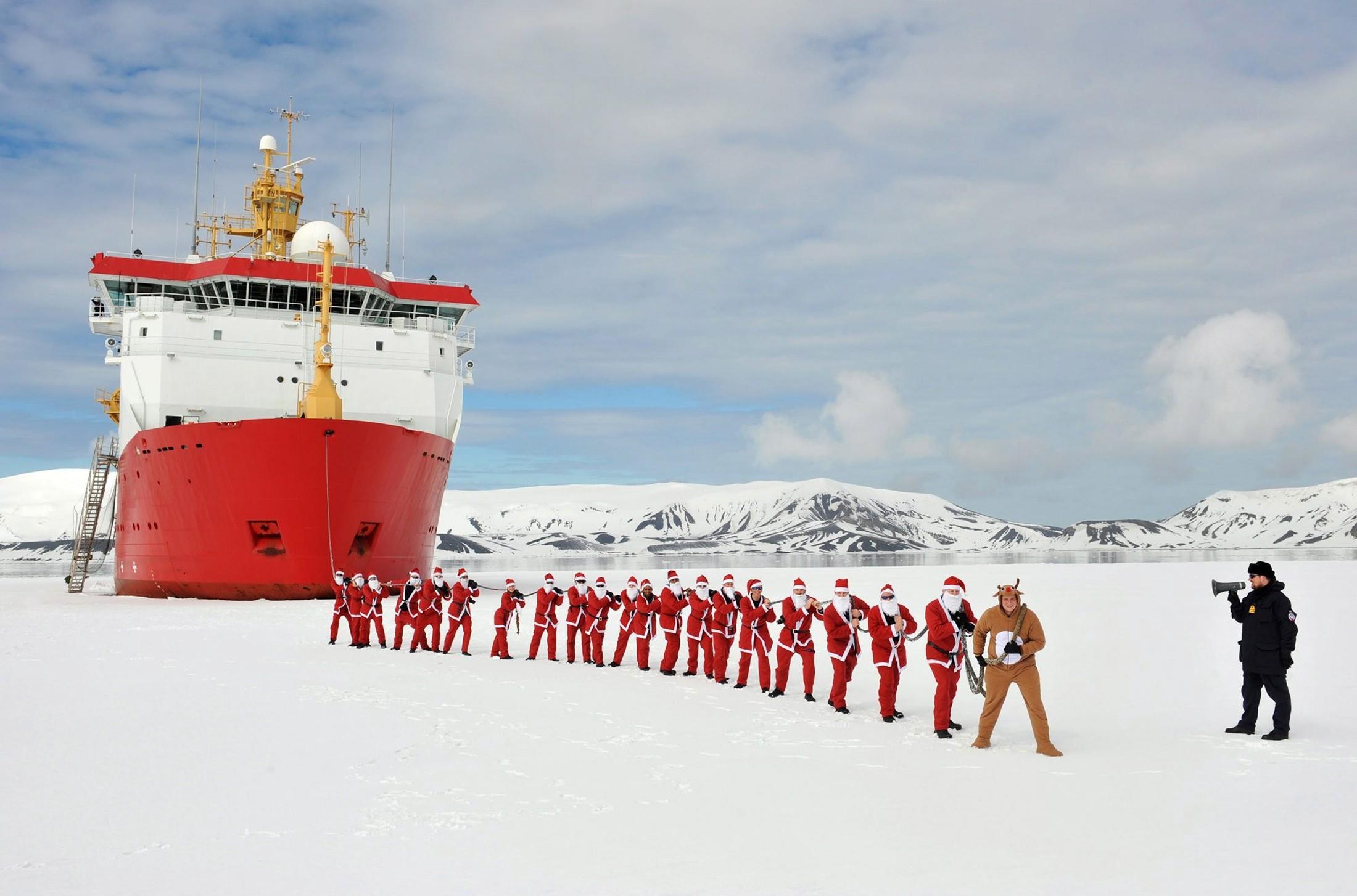 antarctica Royal Navy icebreaker HMS Protector