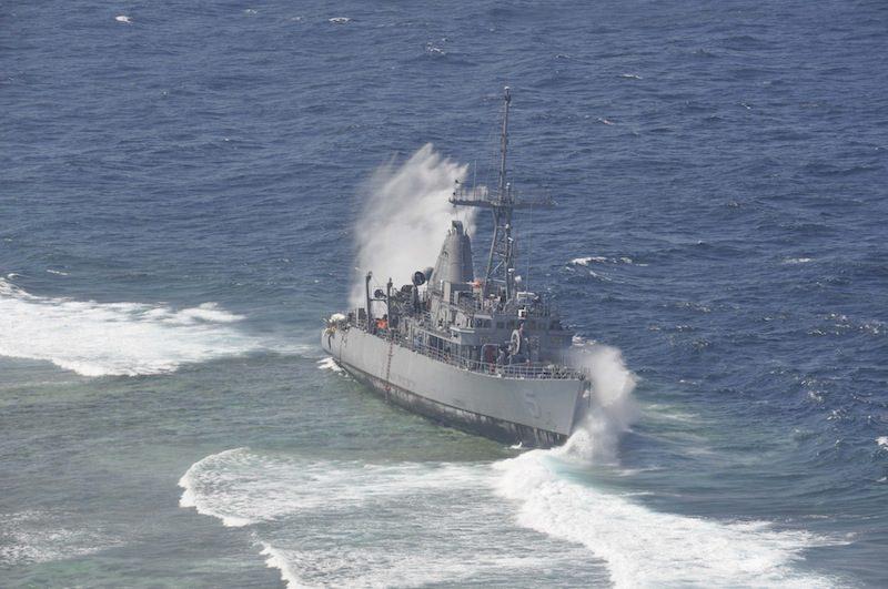 USS Guardian salvage efforts