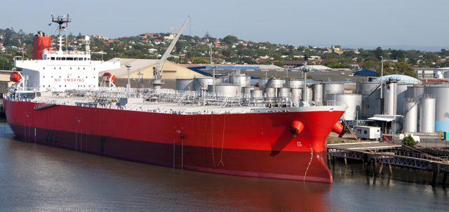 brisbane product tanker ship port oil