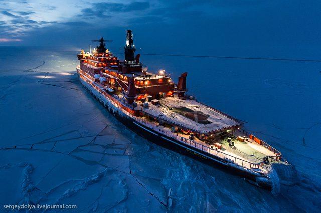 sergey dolya arctic icebreaker north pole