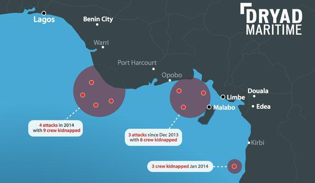 pirate attacks gulf of guinea dryad maritime