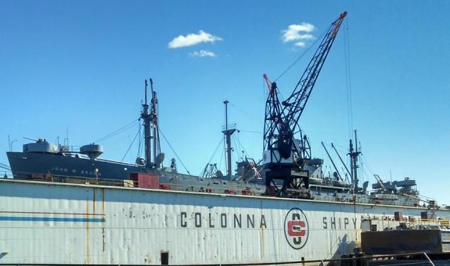 At Colonna's Shipyard.