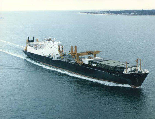The Military Sealift Command prepositioning vessel USNS Sgt. Matej Kocak (T-AK 3005). File Photo courtesy U.S. Navy