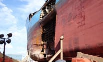 Ship Photo of the Day – Holed Carla Maersk in Dry Dock