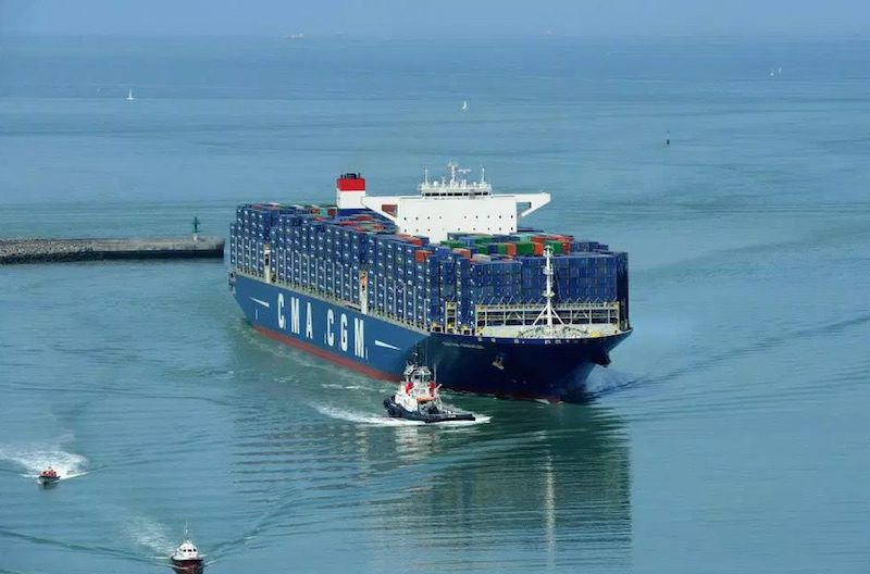 One of CMA CGM's largest ships, MV CMA CGM Kerguelen. Photo: CMA CGM Group