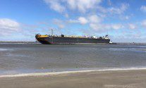 Tug and Barge Ground in High Winds Off Galveston, Texas