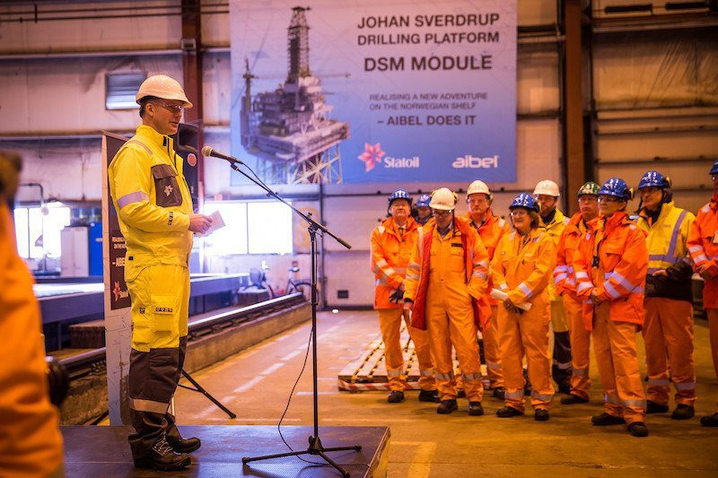 johan sverdrup steel cutting