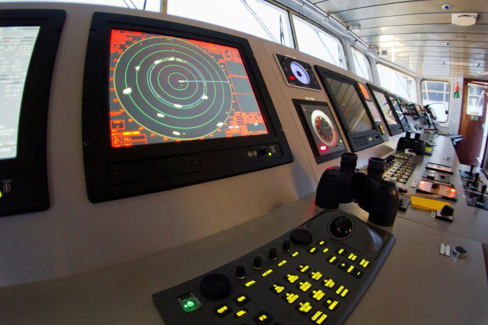 Ship Radar ECDIS Console