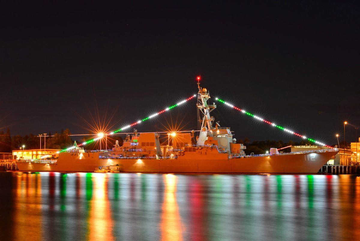 Navy Ship Christmas Parade