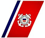 USCG Coast Guard Racing Stripe Logo