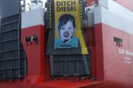 Greenpeace Activists Scale Car Carrier in Thames Estuary