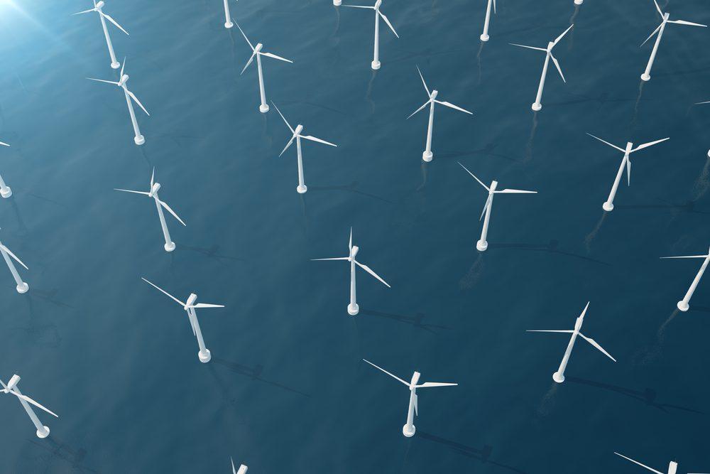 offshore wind turbines rendering