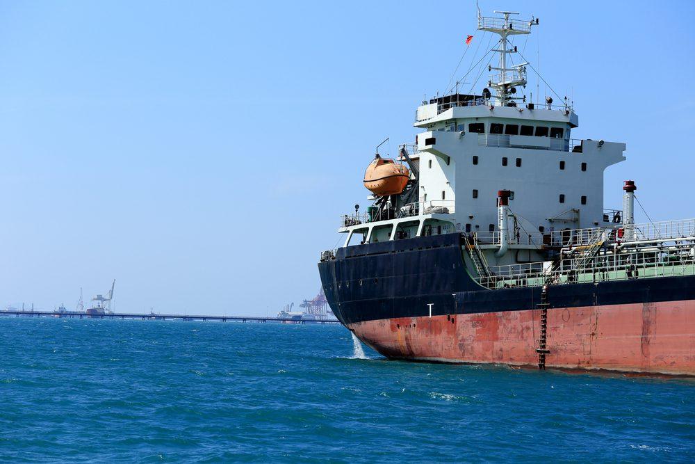 tanker at anchor