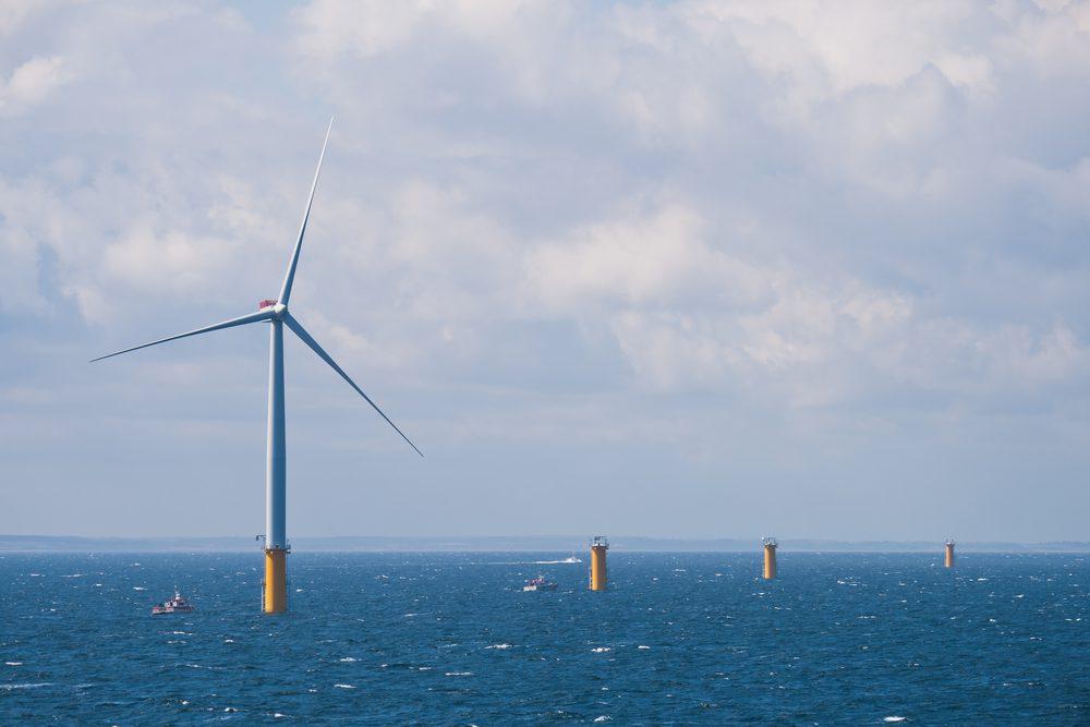 offshore wind farm under construction