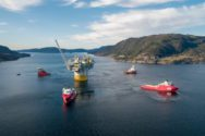 Photos: Aasta Hansteen Spar Tow-Away from Stord, Norway