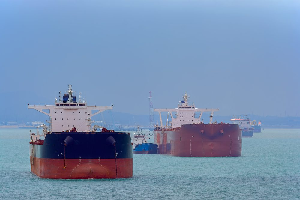 tankers at anchor