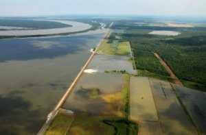 morganza floodway opening for the first time in May 2011