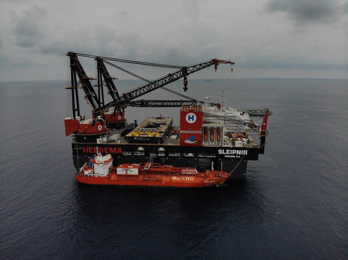 Sleipnir crane vessel LNG bunkering