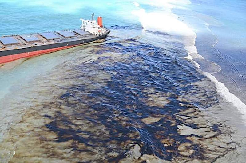 Wakashio Breached: Oil Leaks from Grounded Bulk Carrier in Mauritius, Police Investigation Launched