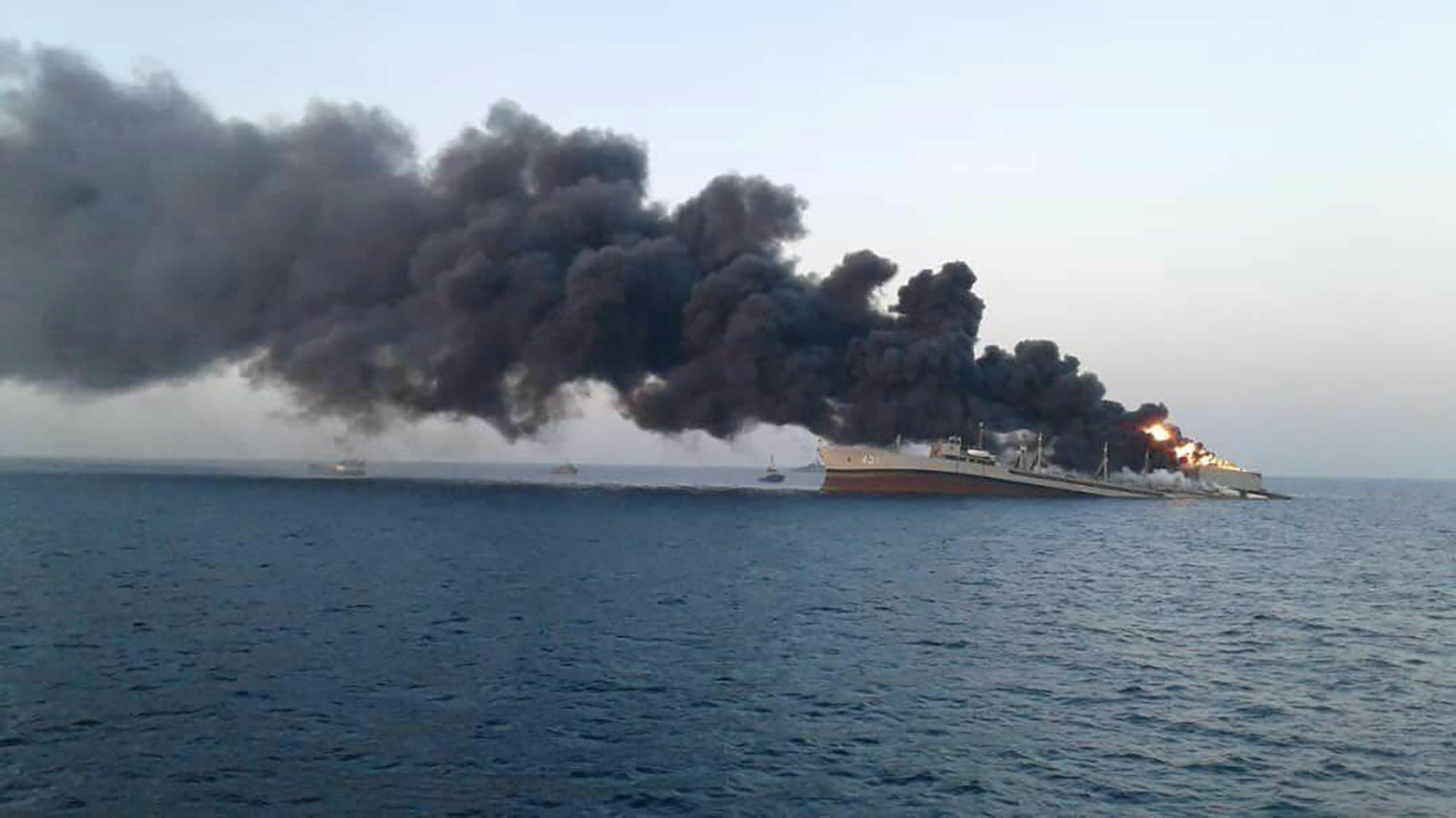 iran navy ship sinking