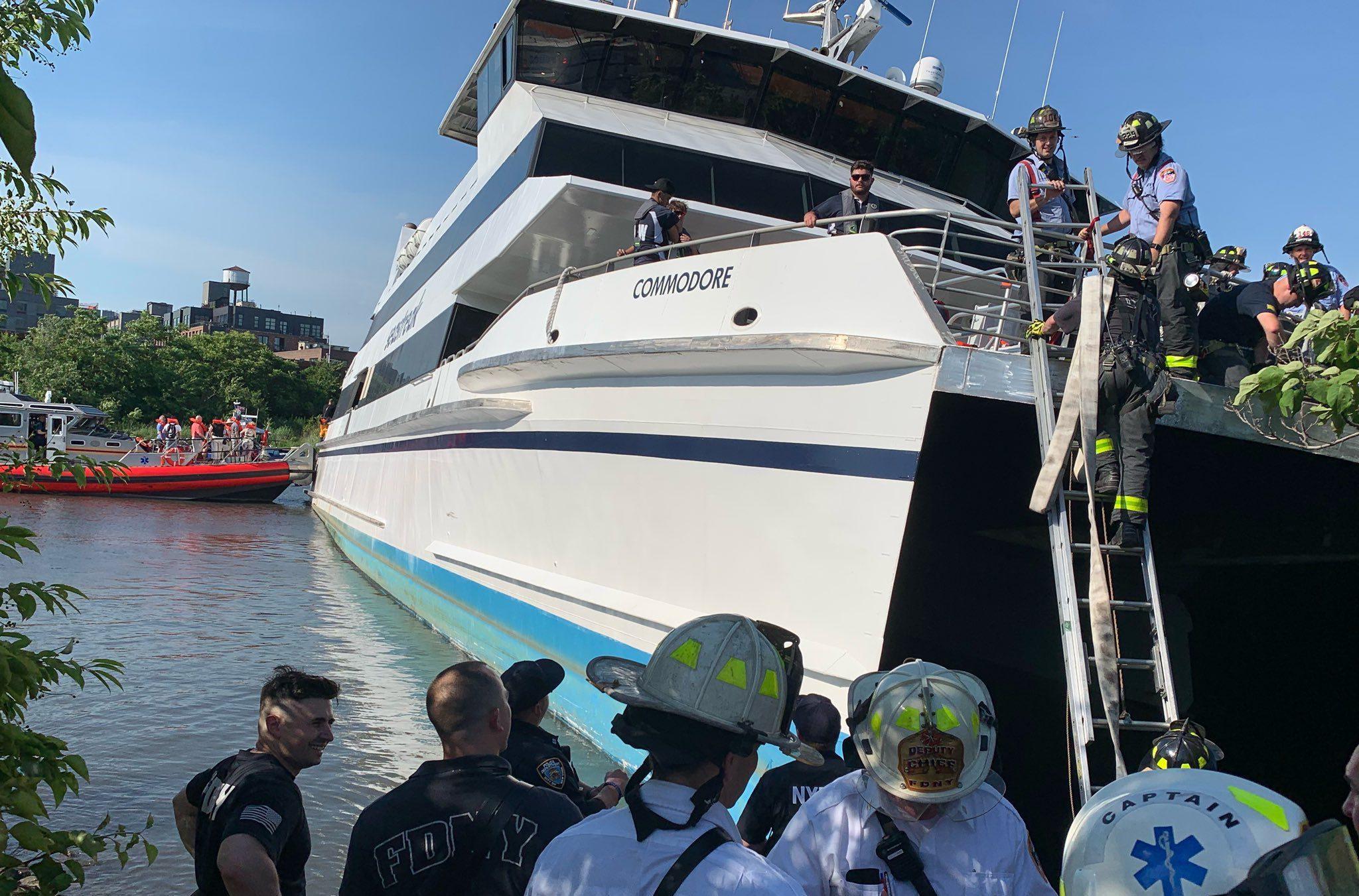 seastreak ferry grounding