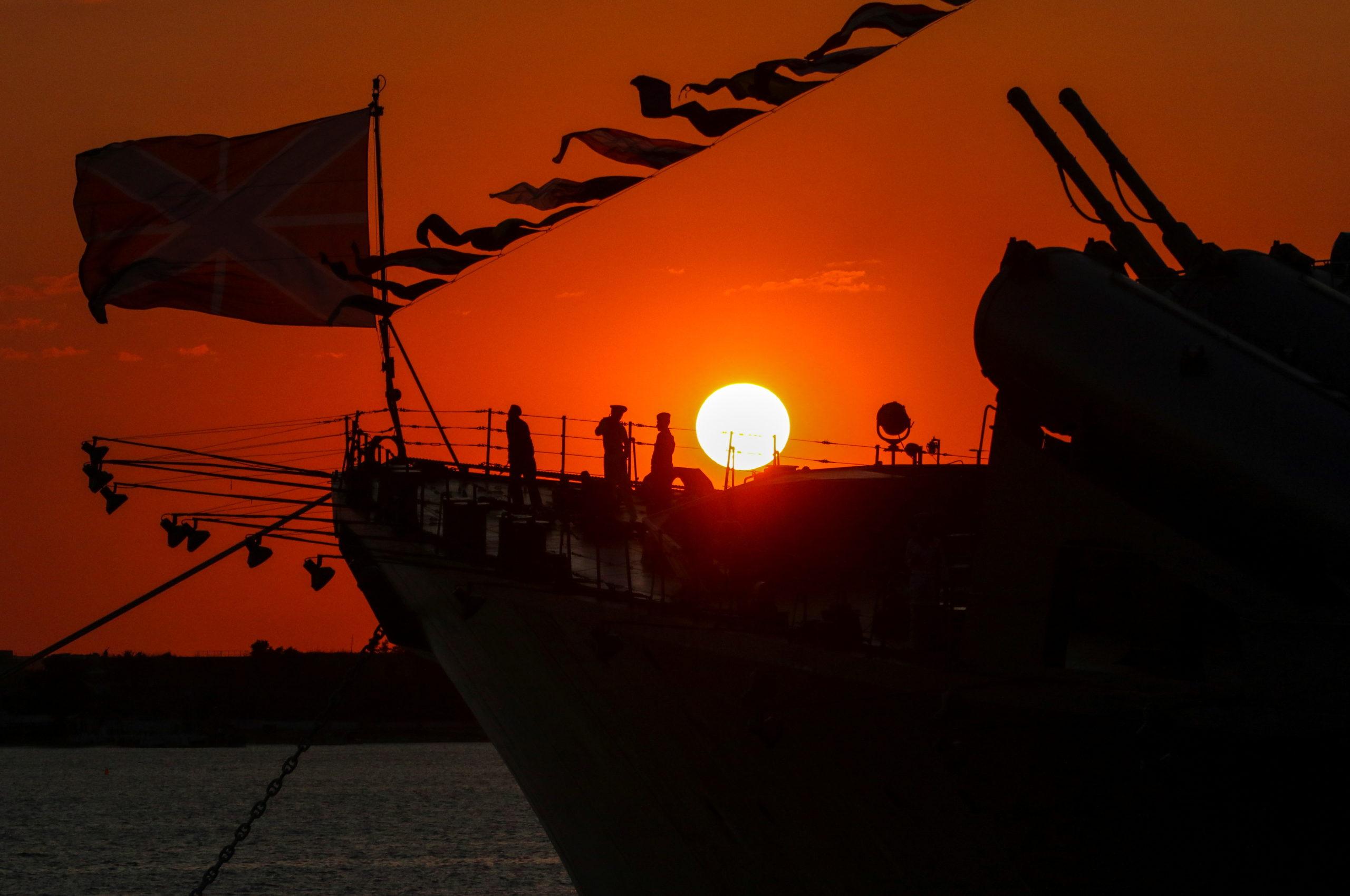 Russian Sailors silhouette Sevastopol