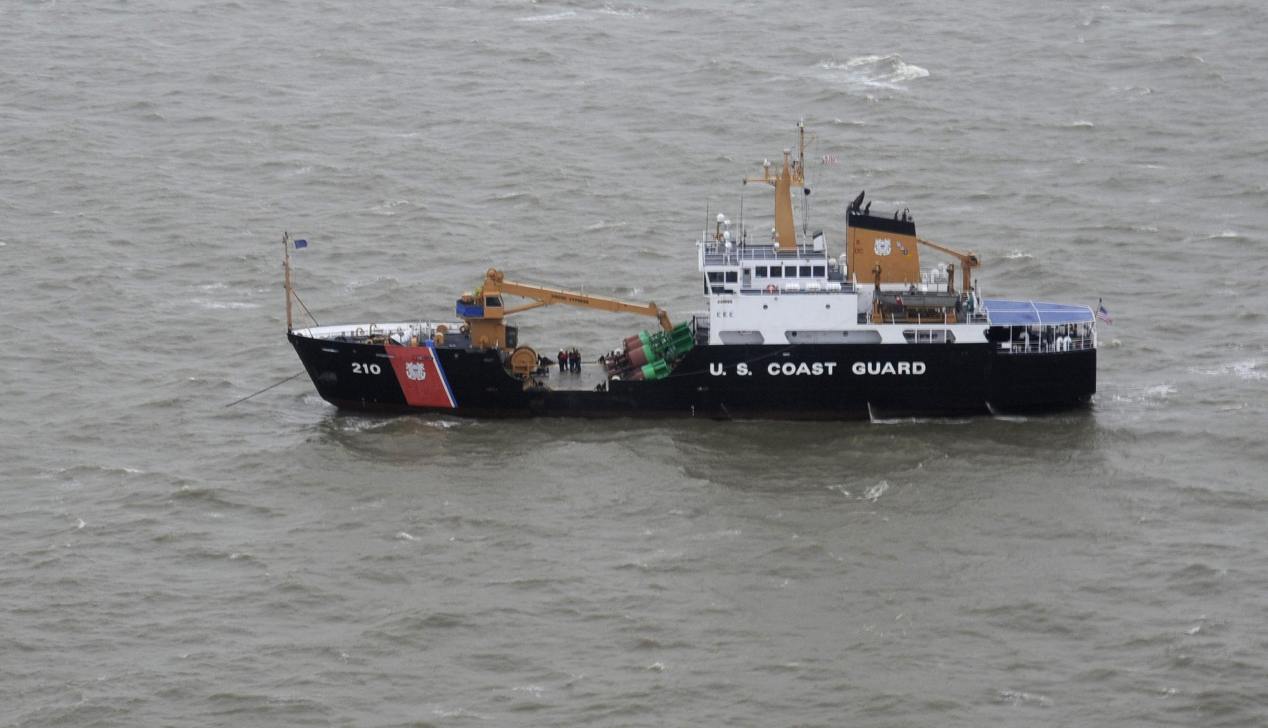 Tropical Storm Ida damage survey vessel